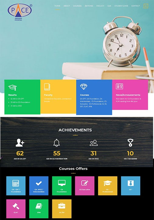pace indore website
