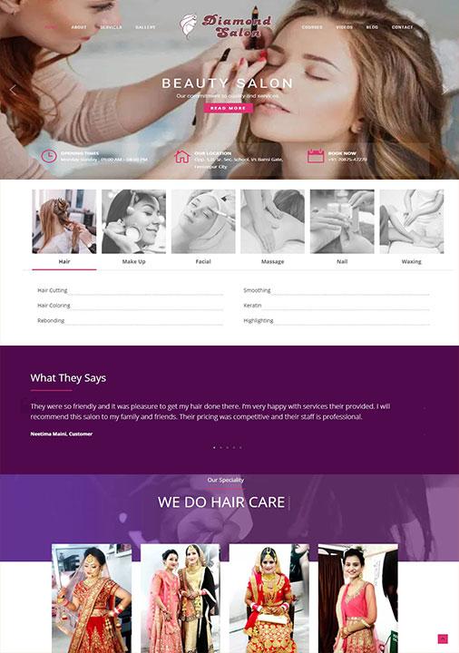 Salon Website Development